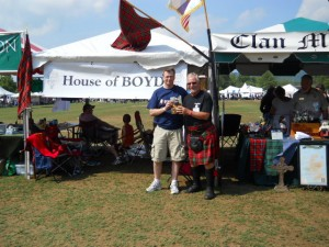 Keith with Dave Boyd at House of Boyd Tent - Greenville Games 2011
