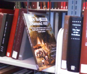 Boys of Diamond Hill on shelf at UNC Library